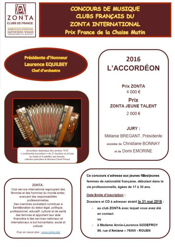 Affiche concours musique accordeon