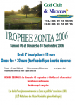 Affiche golf miramas 2006