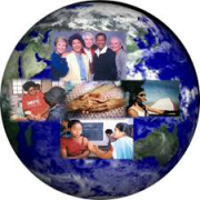 Logo bleu monde