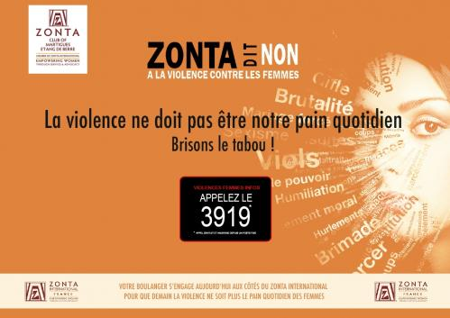 Zonta vertical marron