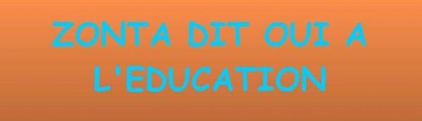 Zonta dit oui a l education